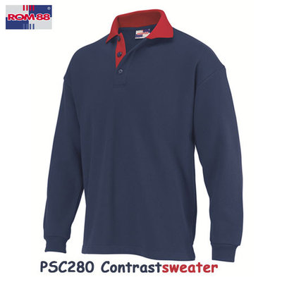 Contrastpolosweater