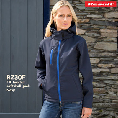 Dames TX  performance  hooded  softshell jack
