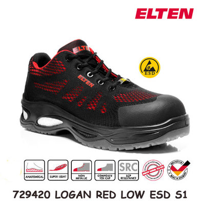 Elten LOGAN RED LOW ESD S1