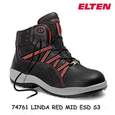 Elten Linda red Low ESD S3