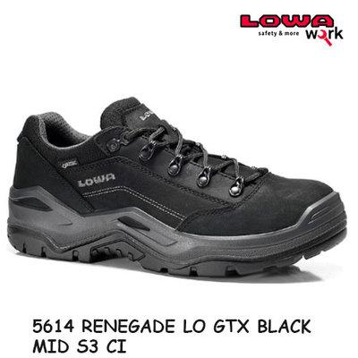 LOWA  5614 RENEGADE WORK GTX BLACK LO S3 CI