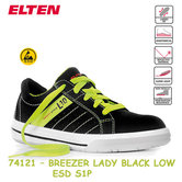 Dames werkschoen Elten Breezer black low  ESD 74121